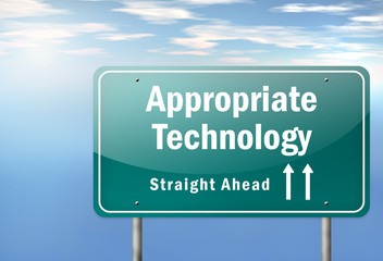 "Highway Signpost ""Appropriate Technology"""