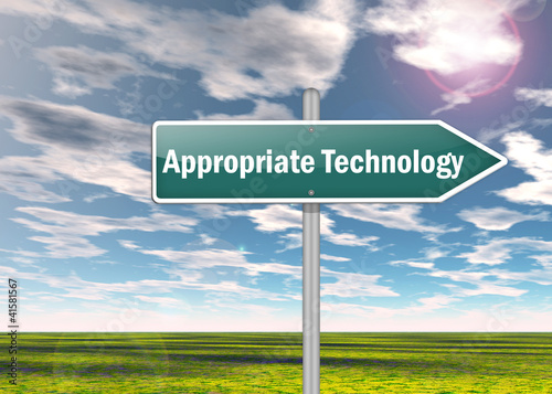 "Signpost ""Appropriate Technology"""