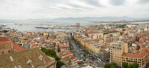 Cagliari, panorama del centro urbano