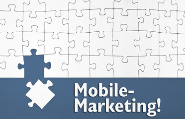 Puzzle mit Mobile-Marketing