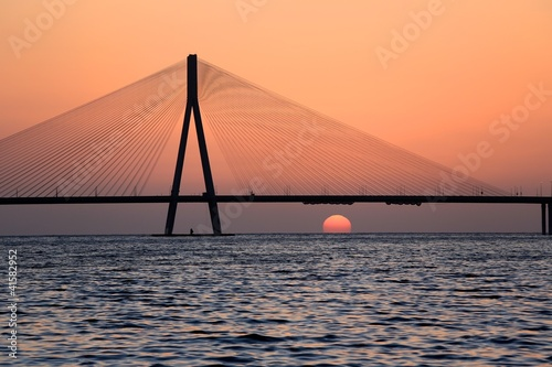 Bandra Worli SeaLink by Sunset