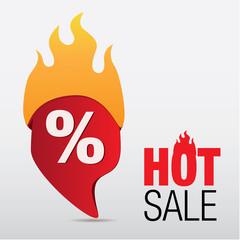 Hot sale icon vector