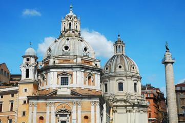 Basilica Ulpia e Colonna Traiana, Roma, Italia