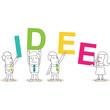 Geschäftsleute, Buchstaben, IDEE