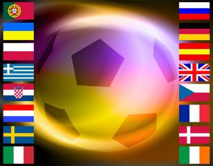 Sport calcio - Bandiere europee