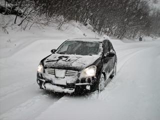 SUV sulla neve