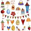 Artworks. Set of decorative elements