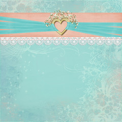 heart and ribbon border