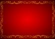 Desenli kırmızılı bir çerçeve