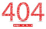 404 file error typographic illustration poster