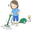 掃除機女性