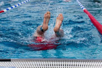 Schwimmer bei der Wende