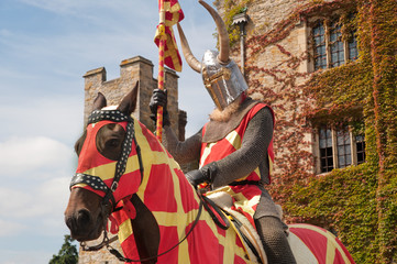 Knight outside of Hever castle