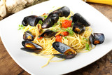 Pasta with mussels and cherry tomatoes