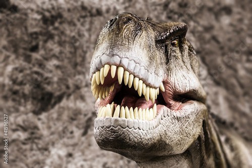 Poster Tyrannosaurus showing his toothy mouth