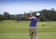 Man golf swing