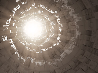 Abstract sci-fi 3d interior
