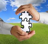 pixel puzzles as partnership concept