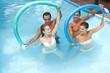 Detaily fotografie Aquafitness mit Schwimmnudeln