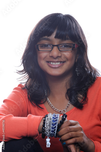 Asian girl wearing glasses