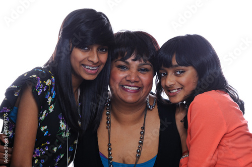 Asian mother with daughters