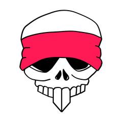 Headbanded Skull