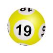 Tirage loto, boule numéro 19