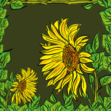 sunflower floral background