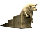 Bull Market Trend Cast In Gold
