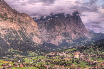 Grindelwald at sunset, Switzerland