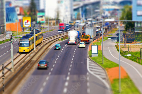 Miniaturstraße - Tilt-Shift Effekt