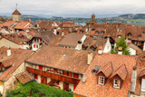 Fototapety old town Murten, Switzerland