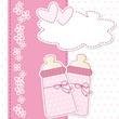baby shower - nascita bimbe gemelle - bigemellare