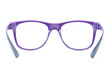 violet nerd Glasses on white background with clipping path