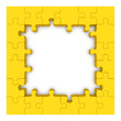 Yellow puzzle frame.