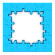 Blue puzzle frame.