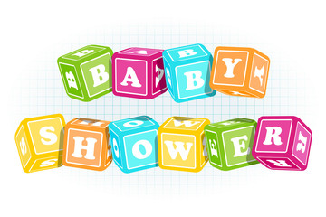 baby Shower cubes
