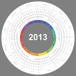Vector calendar 2013 round