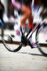zoom burst cyclist