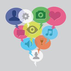 social media bubble icon