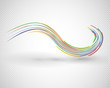 beautiful abstract wavy design element