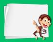 Monkey on paper