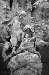 Sad man sculpture at Sagrada Familia