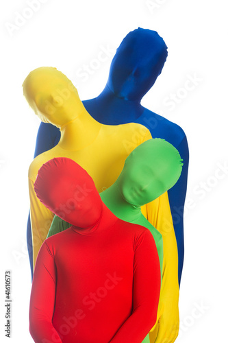 Family of four bright colors. Red, Yellow, Blue, Green