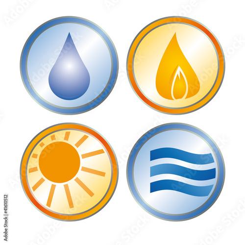 sanit r klimatechnik solar klempner heizung logo mit qxp9 datei stockfotos und lizenzfreie. Black Bedroom Furniture Sets. Home Design Ideas