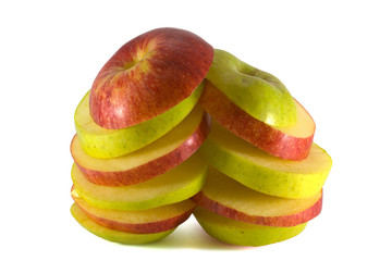 Two sliced apple