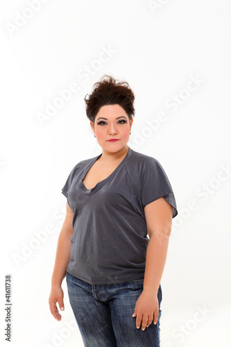 Sexy plus size woman