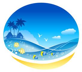 Tropical Sea Waves