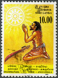 SRI LANKA - 1993: shows Conversion of Angulimala, the murderer,