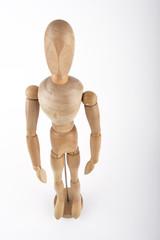 muñeco de madera